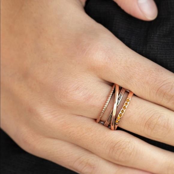Copper Rhinestone Ring